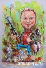 шарж охотник