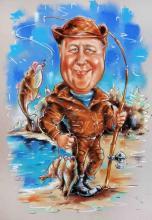 шарж осенняя рыбалка