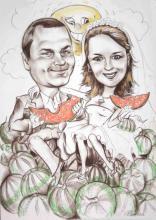 шарж арбузы
