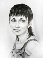 портрет брюнетка