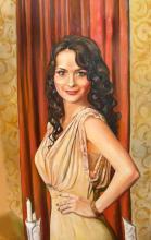 портрет дама в греческом