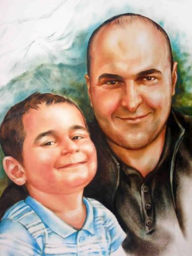 портрет с сыном