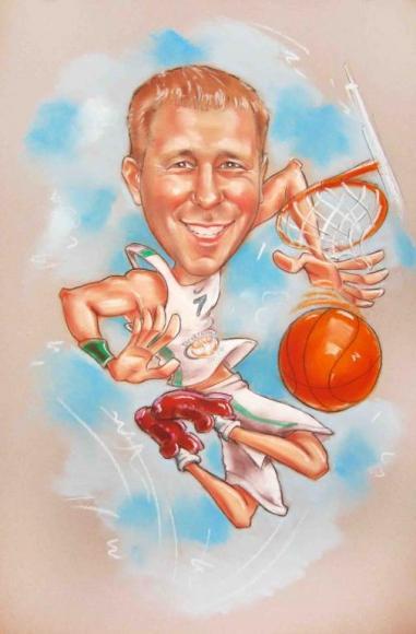 шарж баскетбол