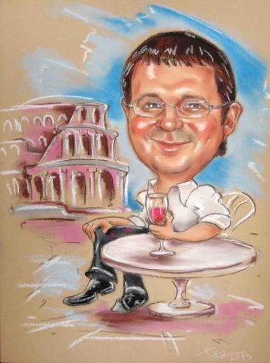шарж римские каникулы