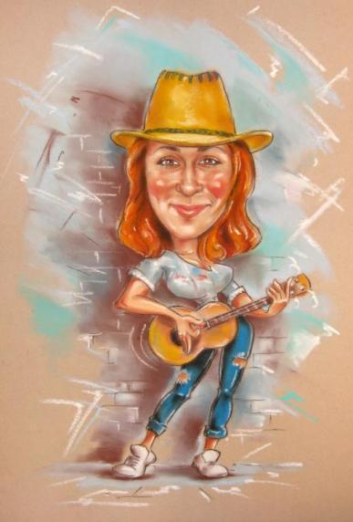 шарж с гитарой