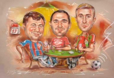 шарж покер клуб