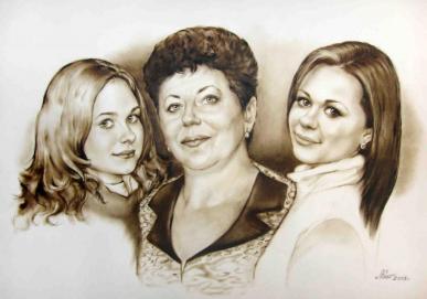 портрет семья