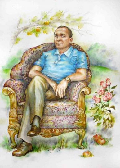 портрет в саду