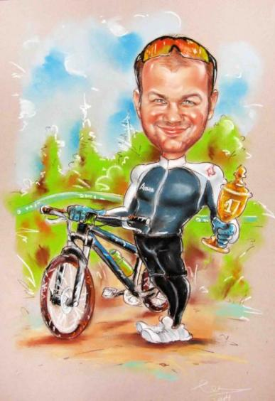 шарж велоспорт